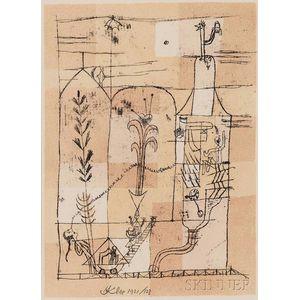 Paul Klee (German, 1879-1940)      Hoffmaneske Szene