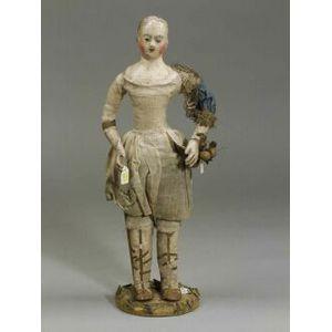 Continental Papier-Mache Figure of a Girl