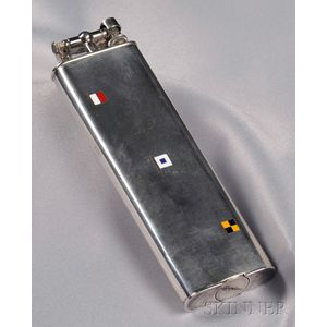 Sterling Silver Lighter, Alfred Dunhill, Paris, Retailed by Cartier