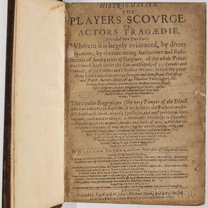Prynne, William (1600-1669) Histrio-Mastix. The Players Scourge, or Actors Tragaedie.