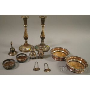 Group of Sheffield Plated Table Articles