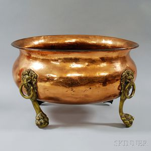 Large Copper and Brass Vessel