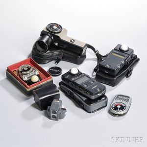Pentax Spotmeter V and Four Other Light Meters