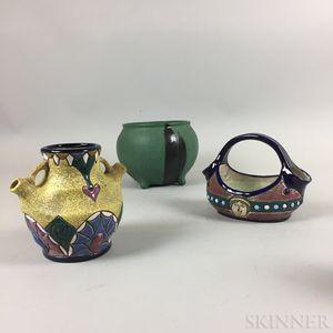 Three Art Pottery Vases