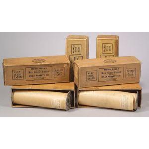 Five Original Mills Violano Virtuoso Rolls