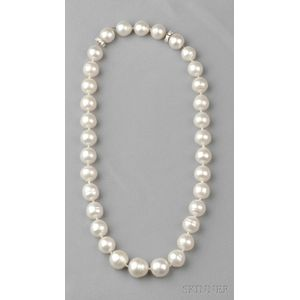 Semi-Baroque South Sea Pearl Necklace