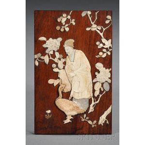 Ivory Inlaid Plaque