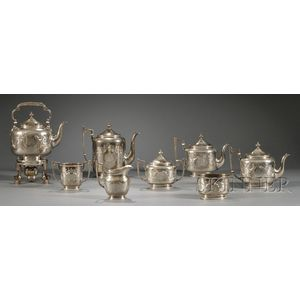 Eight-piece Bigelow, Kennard & Co. Sterling Tea and Coffee Service