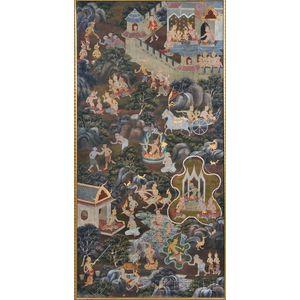 Painting of Jataka Buddhist Tales