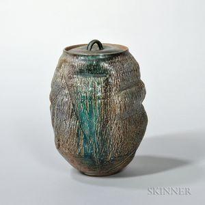 Makoto Yabe (1947-2005) Fresh Water Studio Pottery Vessel