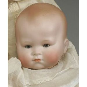 K&R Bisque Head Character Infant Doll