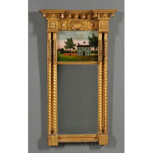 Classical Giltwood and Gesso Mirror