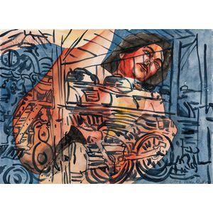 David Salle (American, b. 1952)      Untitled