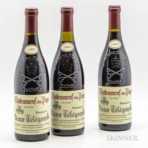 Vieux Telegraphe Chateauneuf du Pape La Crau 1995, 3 bottles