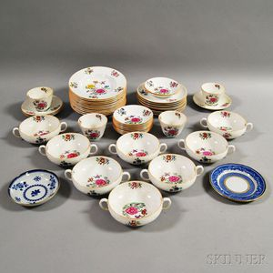 """Forty-eight Pieces of Mostly Copeland Spode """"Daphne"""" Tableware.     Estimate $200-300"""