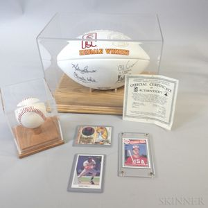 Group of Sports Memorabilia