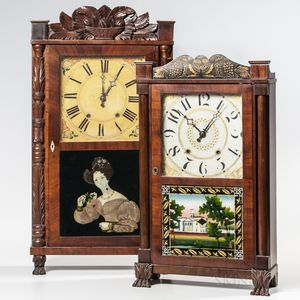 Two American Transitional Shelf Clocks