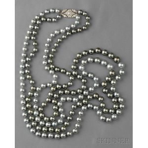 Double-strand Tahitian Pearl Necklace