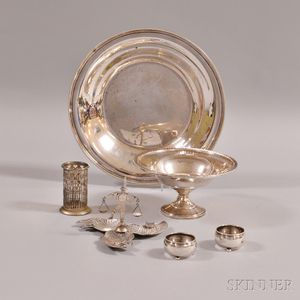 Group of Assorted Silver Tableware Items