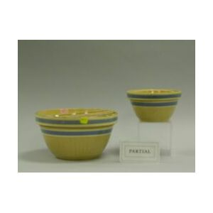 Nest of Five Yellow Ware Bowls.