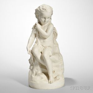 Copeland Parian Figure of Miss Ellie