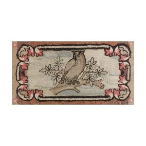 Cotton Pictorial Hooked Rug