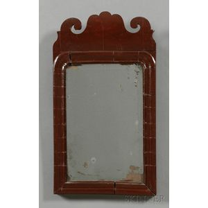 Red-painted Queen Anne Mirror