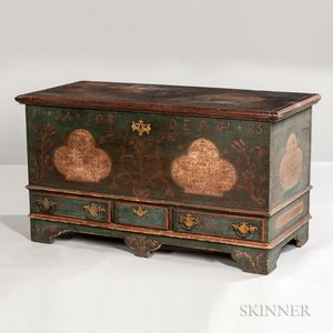 Paint-decorated Dower Chest for Jacob Desch