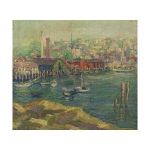Mildred Turner Copperman (American, b. 1906)  Gloucester Harbor