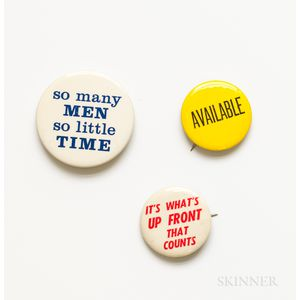 Gay and Sexual Liberation Buttons, Mid-20th Century.