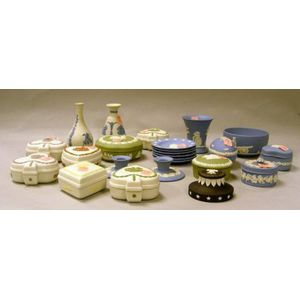 Twenty-four Modern Wedgwood Solid Jasper Items
