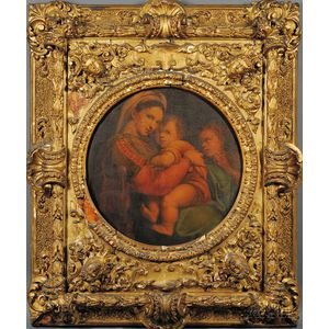 After Raffaelo Santi, called Raphael (Italian, 1483-1520)      Madonna della Sedia.
