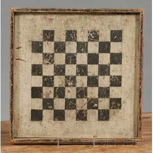 Painted Wooden Checkerboard