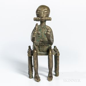 Bronze Seated Figure of a Chief
