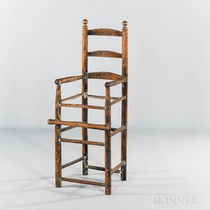 Painted Slat-back High Chair Frame