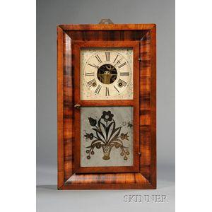 Mahogany Miniature Ogee Clock by Chauncey Boardman