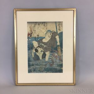 Utagawa Kuniyoshi (1797-1861) Woodblock Print