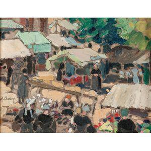 Maurice Barbey (French, 20th Century)      Breton Market