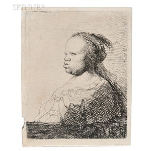 Rembrandt van Rijn (Dutch, 1606-1669)      The White Negress