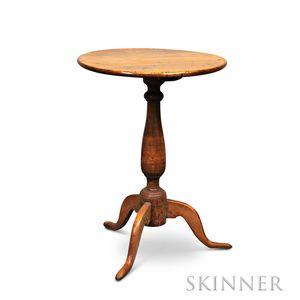 Queen Anne Maple Round-top Candlestand