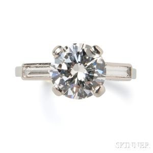 Platinum and Diamond Solitaire, Mounted by Boucheron