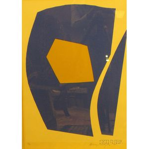 Richard Mortensen (Danish, 1910-1993)      Abstract Composition in Blue and Yellow