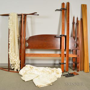 Federal-style Carved Cherry Tester Bed.     Estimate $300-500
