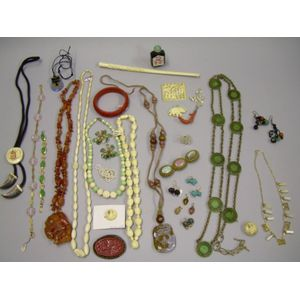 Group of Asian and Ethnic Jewelry Items