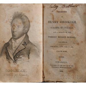 Dwight, Edwin Welles (1789-1841) Memoirs of Henry Obookiah