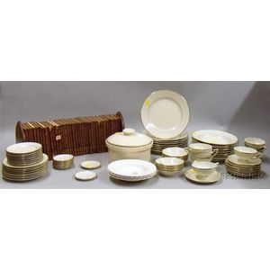 Partial Set of Gold-Rimmed Haviland Dishes and Partial Set of Shakespeare Works