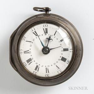 George Richardson Silver Pair-case Verge Watch