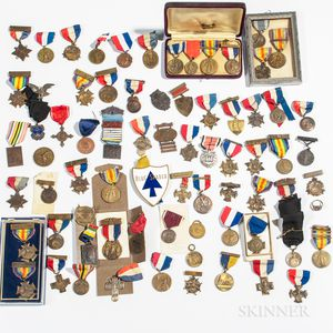 Group of Mostly WWI Medals