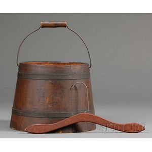 Wooden Pail and a Shaker Clothes Hanger