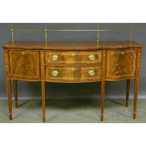 Stickley Federal-style Inlaid Mahogany Serpentine Sideboard